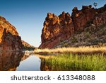 reflections of rock formations...