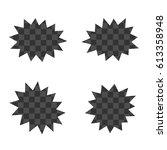 explosion. black and white... | Shutterstock .eps vector #613358948