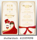 wedding menu card templates... | Shutterstock .eps vector #613359098