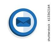 icon symbol flat envelope...   Shutterstock .eps vector #613362164