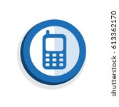 icon contacts  symbol telephone ... | Shutterstock .eps vector #613362170