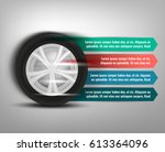 vector tyre banners image.... | Shutterstock .eps vector #613364096