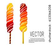 vector sugar candies isolated... | Shutterstock .eps vector #613366208