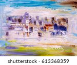 Oil Painting   City View Of...