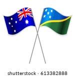 australian and solomon island... | Shutterstock .eps vector #613382888