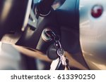 the car keys in the ignition... | Shutterstock . vector #613390250