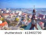 aerial view of szczecin ...   Shutterstock . vector #613402730