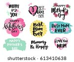 happy mother's day lettering... | Shutterstock .eps vector #613410638