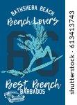 best beach beach lovers graphic ... | Shutterstock .eps vector #613413743