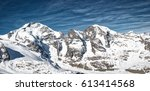 mountain panorama of the... | Shutterstock . vector #613414568