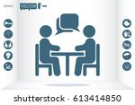 vector illustration people at a ... | Shutterstock .eps vector #613414850