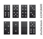 domino black icon. vector... | Shutterstock .eps vector #613418600