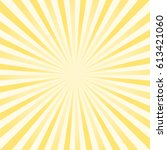 abstract light yellow rays... | Shutterstock .eps vector #613421060