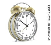 old style alarm clock isolated... | Shutterstock . vector #613421666