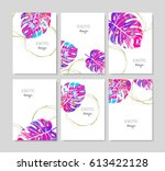 flyer design. fashion card. | Shutterstock .eps vector #613422128