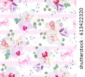 delicate seamless vector... | Shutterstock .eps vector #613422320
