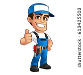 vector illustration of an... | Shutterstock .eps vector #613425503