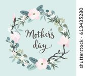 mothers day greeting card ... | Shutterstock .eps vector #613435280