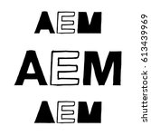 aem   isolated hand drawn... | Shutterstock .eps vector #613439969
