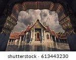 marble temple in bangkok | Shutterstock . vector #613443230