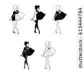 Silhouettes Of Women With...