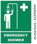 emergency shower sign   Shutterstock .eps vector #613446944