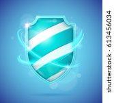 realistic shield  a symbol of...