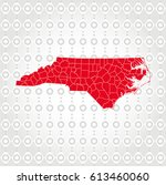 details north carolina map in... | Shutterstock .eps vector #613460060