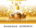 beauty cosmetic product poster  ... | Shutterstock . vector #613463414
