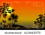exotic landscape  tropical... | Shutterstock . vector #613463570