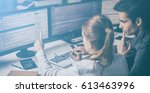 developing programming and... | Shutterstock . vector #613463996