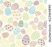 easter egg seamless pattern....   Shutterstock .eps vector #613464890