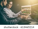 analyzing data  graphs and... | Shutterstock . vector #613465214