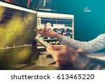 analyzing data  graphs and... | Shutterstock . vector #613465220