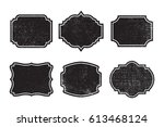 set of grunge labels with... | Shutterstock .eps vector #613468124