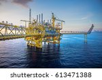 industrial offshore oil and gas ... | Shutterstock . vector #613471388