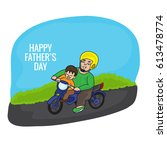 happy father's day vector... | Shutterstock .eps vector #613478774