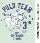 american polo sports graphic... | Shutterstock .eps vector #613483310