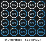 circular download chart with... | Shutterstock .eps vector #613484324