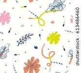 beautiful bright pattern.   Shutterstock .eps vector #613486460