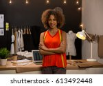 portrait of a young fashion... | Shutterstock . vector #613492448