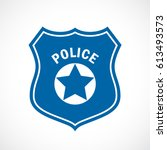 police officer badge icon... | Shutterstock .eps vector #613493573
