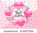 the best mom card template with ... | Shutterstock .eps vector #613497044