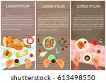 set of menu for sweet table and ... | Shutterstock .eps vector #613498550