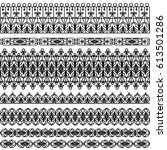 set of black borders isolated...   Shutterstock .eps vector #613501286
