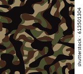 camo  camouflage pattern... | Shutterstock .eps vector #613501304