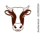 vector image of a cow head...   Shutterstock .eps vector #613502324