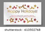 banner with stars from gold ... | Shutterstock .eps vector #613502768