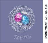happy easter illustration....   Shutterstock .eps vector #613503518