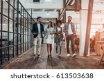 catching up before meeting.... | Shutterstock . vector #613503638
